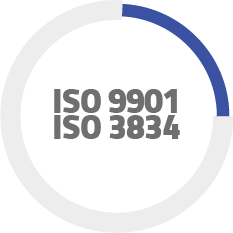 Company quality with ISO9001 and 3834 certification